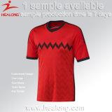 [هلونغ] 100% صنع وفقا لطلب الزّبون بوليستر أيّ علامة تجاريّة كرة قدم جرسيّ كرة قدم قميص