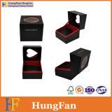 Kleiner Schmucksache-Uhr-Halsketten-Ring, der Fach-Geschenk-verpackenkasten mit Belüftung-Fenster schiebt