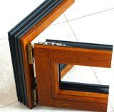 Finestra di alluminio placcata di legno di inclinazione della grande scala con il hardware tedesco di Roto