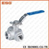 Válvula de bola de acero inoxidable Esg Serie 400