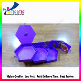 Boîte de présentation enduite extérieure violette de stockage d'Artpaper