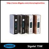 Authentique Case Mod Sigelei 75W Puissance Variable 5W-75W La commande de température mod 18650 Sigelei 75W 150W Sigelei Mod vs mod e cig Vape Mods