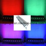 IP65 27x3W RGB Scène extérieure Bande LED Bar Lampe à LED Projecteur mural
