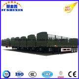 Rimorchio pratico del camion di fabbrica di prezzi 3 dell'asse del pneumatico della rete fissa del carico singolo o doppio diretto del palo da vendere