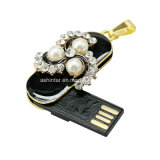 Crystal Stilettos Pearl Flower USB Flash Drive Bijoux USB Stick