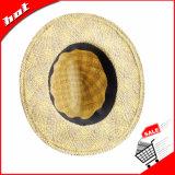 중절모 밀짚 파나마 모자 넓은 테두리 리본 일요일 모자