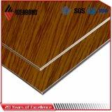 Los paneles compuestos de aluminio del final de madera decorativo Ae-306 para la oficina Partion