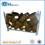 Pó que reveste o armazenamento de pneu Foldable do metal que empilha a cremalheira