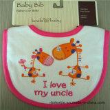 印刷を用いる卸し売り低価格の柔らかい赤ん坊の胸当て
