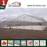 2000m² temporaire tente d'entrepôt en aluminium avec murs dur