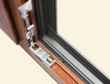 Colorful Thermal Break Aluminium Profile Double Sashes Janela Casement com Multi Lock K03034