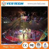 Magische 3D LEIDEN van het Stadium Dance Floor 5.9mm de Hoogte van het Pixel voor Stadium toont