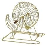 Tu13 avanza a poquitos la jaula de lujo del bingo con la silla de la tela de Colorfted del oro (59. SFC. 101)