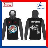 Healongのスポーツ・ウェアの昇華カスタム卸し売りメンズチーム釣ジャージのワイシャツ