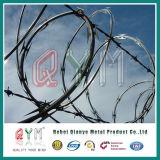 PVC塗られた及び電流を通されたアコーディオン式かみそりワイヤー/Hightの機密保護かみそりの有刺鉄線