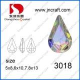 Rhinestones cristalinos Ab de la gota de calidad superior del rasgón de Dz-3018 para la venta al por mayor