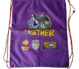 Backpack мешка Drawstring пурпурового полиэфира 210d Nylon
