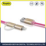 2 in 1 USB di carico del cavo dell'automobile di dati