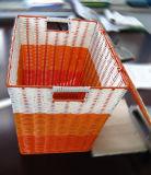 Panier tissé en plastique fait à la main