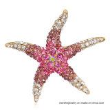 새로운 형식 다색 사랑스러운 동물성 불가사리 모양 모조 다이아몬드 브로치 보석