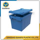 Recipientes de armazenamento plásticos do assentamento da cor do cliente com tampa