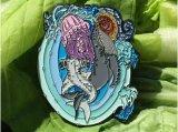 O logotipo personalizado Fashion Embarcações de metal macio de latão/Disco Esmalte Ouro Emblema Emblema de Prata Leões de Segurança da Polícia Militar de bandeira do pino de lapela agulha longa para promoção dons