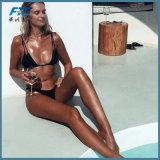 """Biquini """"sexy"""" do desgaste da natação do Swimsuit do poliéster de duas partes da praia"""