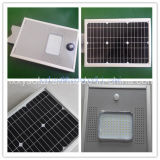 5 ans de garantie 6-100W Outdoor All in One Integrated Solar LED Street Light avec appareil photo