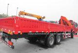 6X4ローディングクレーンが付いている望遠鏡のFoldableアームトラック10トンの