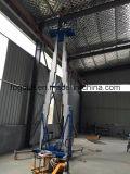 l'elevatore mobile aereo dell'albero di 12m spinge intorno l'alluminio dell'elevatore di Personl un elevatore della persona
