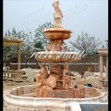 Big Sunset Red Marble Fountain pour Décoration Mf-653
