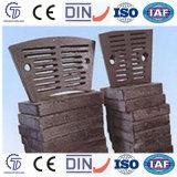 Вкладыш плиты подкладки для износоустойчивой части отливки части