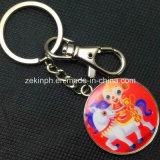 Изготовленный на заказ металл Keychain печатание круглой формы