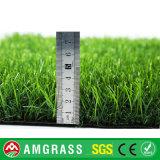 Campo di calcio dell'interno ed erba sintetica per la decorazione