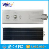 50W COB Bridgelux LED Solar PIR Sensor Street Light