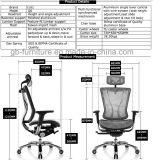 Низкий задний эргономический стул вычислительного бюро сетки