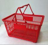 Plastic portable Shopping Basket con Handle Retail para el almacén y Supermarket y Home Storage Picnic de Retail y de Convennient