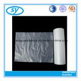 Пластичный плоский прозрачный мешок еды замораживателя на крене