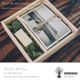 Hongdaoは木の結婚式のクラフトのギフトの写真USBのアルバムボックス_Eをカスタマイズした