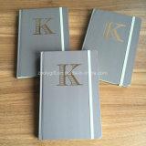 Cuaderno suave del diario del cuero de la cubierta de la PU A5 con el borde coloreado