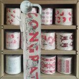El tocador de la flor limpia tejidos de cuarto de baño impresos divertidos de la novedad del papel higiénico