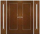Porte extérieure de porte en bois solide de 100% avec le prix concurrentiel