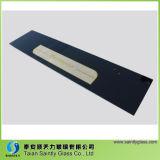 6mm Silk Screen pintado de vidrio templado para el hogar con borde pulido
