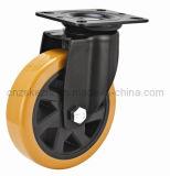 Mh4 Med-Heavy tipo giratório direito do rolamento de esfera dupla do Rodízio de Roda de poliuretano preto