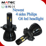 차를 위한 96W 9600lm Philips 4 측 자동 LED 헤드라이트 9005 Hb3