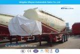 3 de Oplegger van de Vrachtwagen van het Cement van de Tank van de as met As Fuwa en Dieselmotor