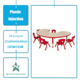 Tabela ao ar livre personalizada da mobília do jardim dos produtos plásticos e modelação por injeção ajustada da cadeira