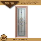 Gravierte Glaspanel-Aluminiumflügelfenster-Schwingen-Tür für Haus-Wohnzimmer-Dekoration