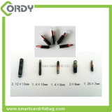 134.2kHz 2.12*12mm 1.4*8mm RFID 동물성 마이크로 칩 꼬리표