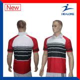 Рубашка пола сублимации дешевого способа Healong Breathable изготовленный на заказ для людей